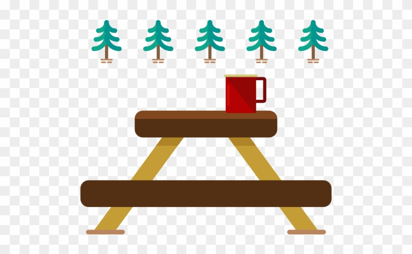 Picnic Table Clipart Illustration Png - Clip Art Camping Picnic Table #628126