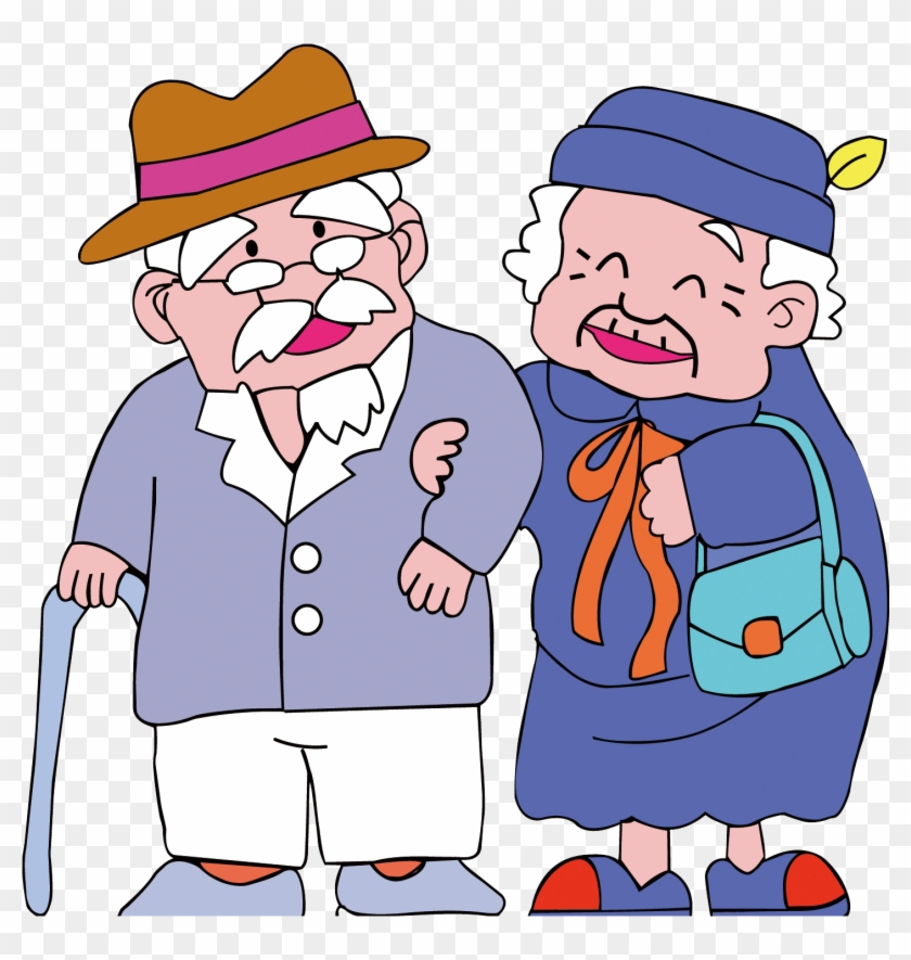 Пожилые люди рисунок