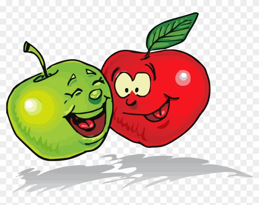 Apple Green Red Clipart Png - Healthy Food Clipart Free #628994