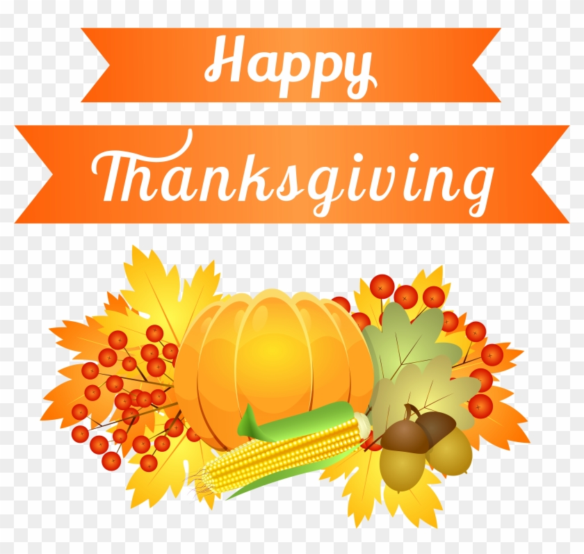 Happy Thanksgiving Clipart Png #628997