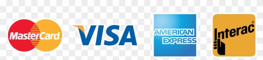 we accept visa mastercard amex and interac debit visa mastercard