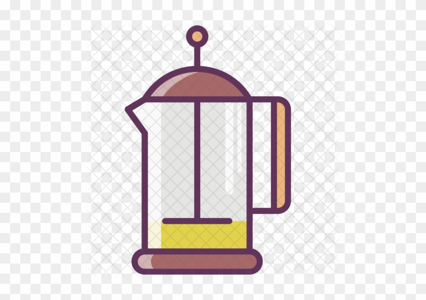 Coffee, Coffeepot, Kettle, Pot, Tea, Frenchpress Icon - French Press #632105