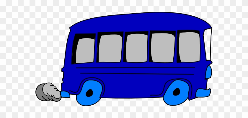 Blue Bus Clipart School Van Pencil And In Color - Blue School Bus Cartoon #112014