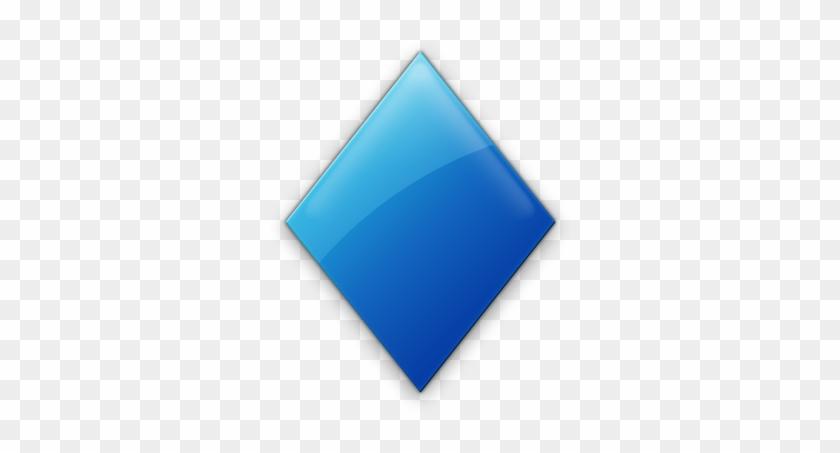 Blue Diamond Shape Clip Art - Light Blue Diamond Shape #112237