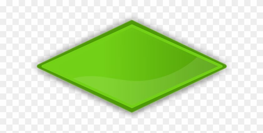 Green Diamond Clip Art - Green Diamond Clip Art #112418