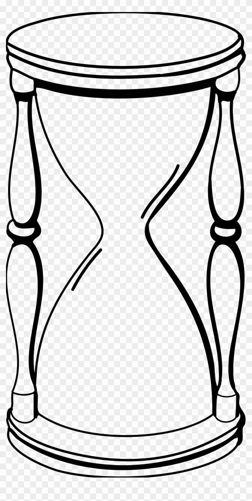 Clipart - Hour Glass Black And White #112504