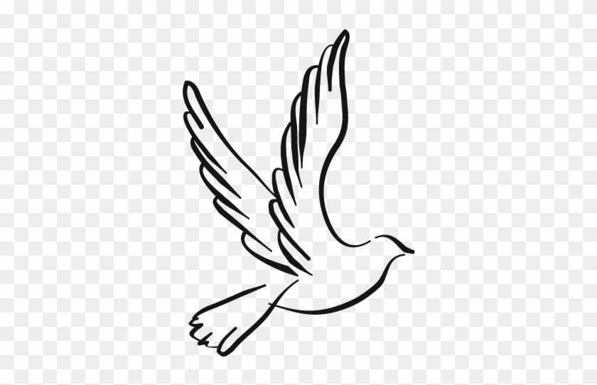 Democratic Reform Party - Black And White Dove Png #112647