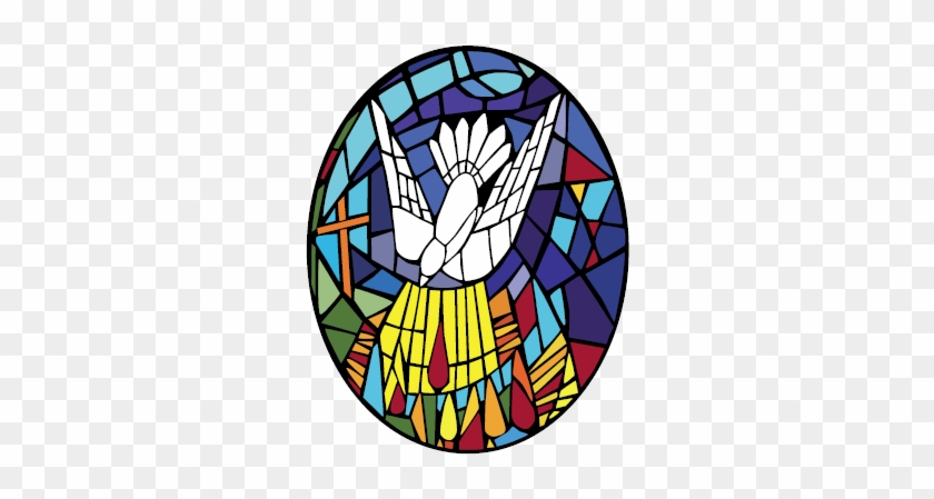 Contact Church Of The Holy Spirit - Stained Glass Holy Spirit Dove Png #112717