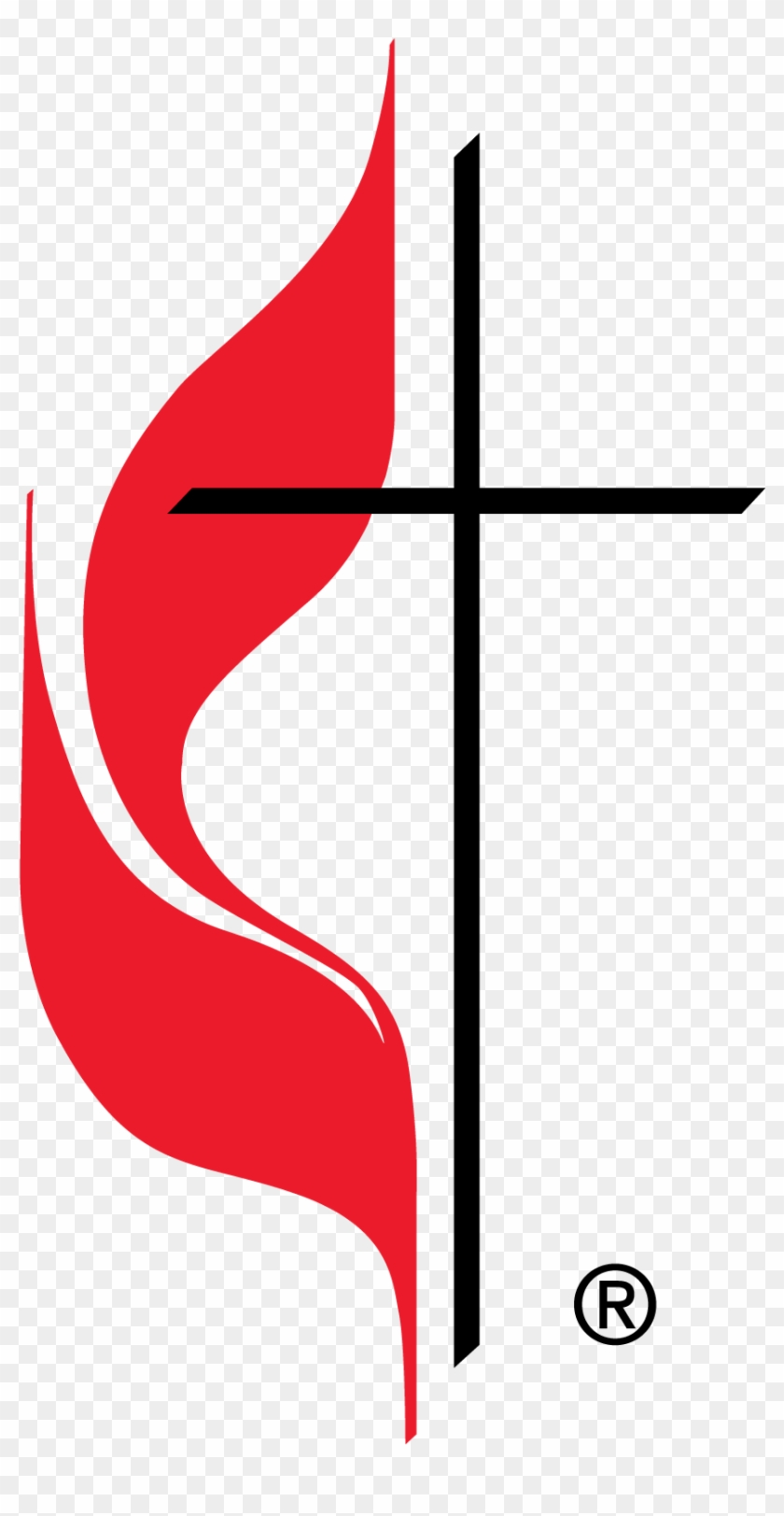Clipart Methodist Cross Flame Best Photos Of And Clip - Welcome New Members Church #112722