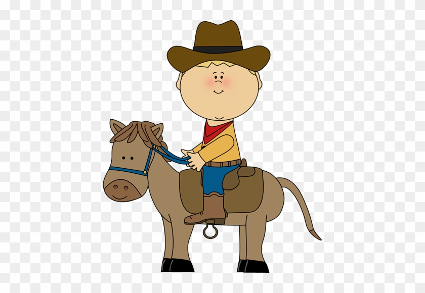 Clipart For Kids - Cowboy On A Horse Clipart #113150