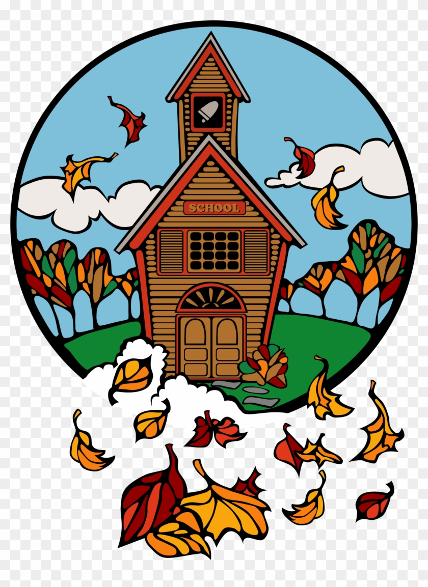 School In Fall Abiclipar - Fall Church Clip Art #113266