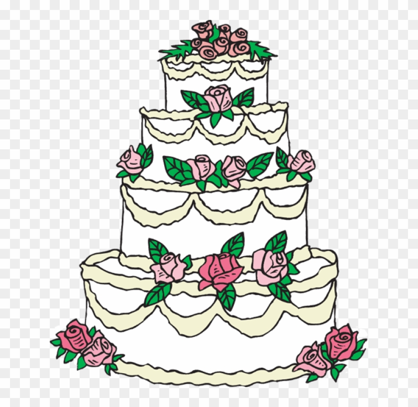 Grab This Free Birds With Ribbon And Rings Wedding - Wedding Cake Clip Art #113267