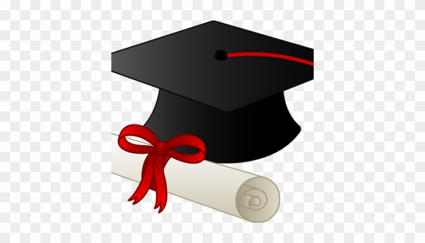 Graduation Sunday - Graduation Cap And Diploma Cartoon #113291
