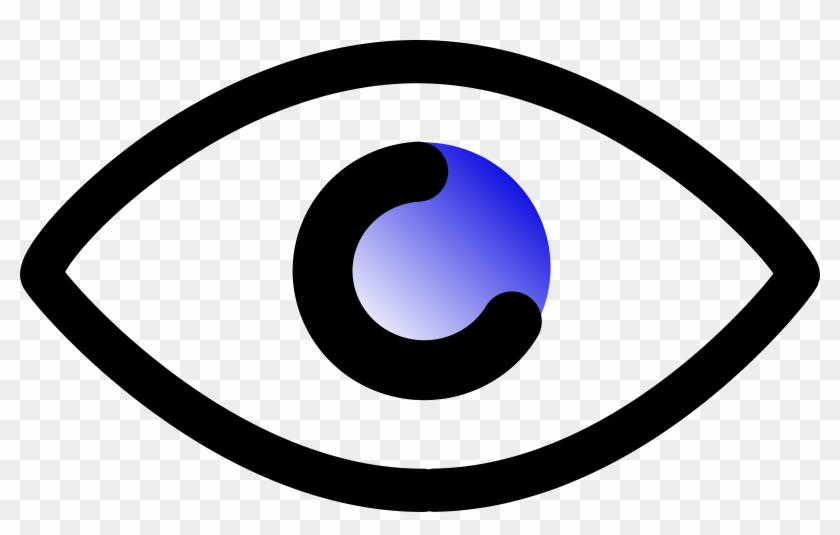 Eye Vector - Cartoon Outline Of Eye #113454