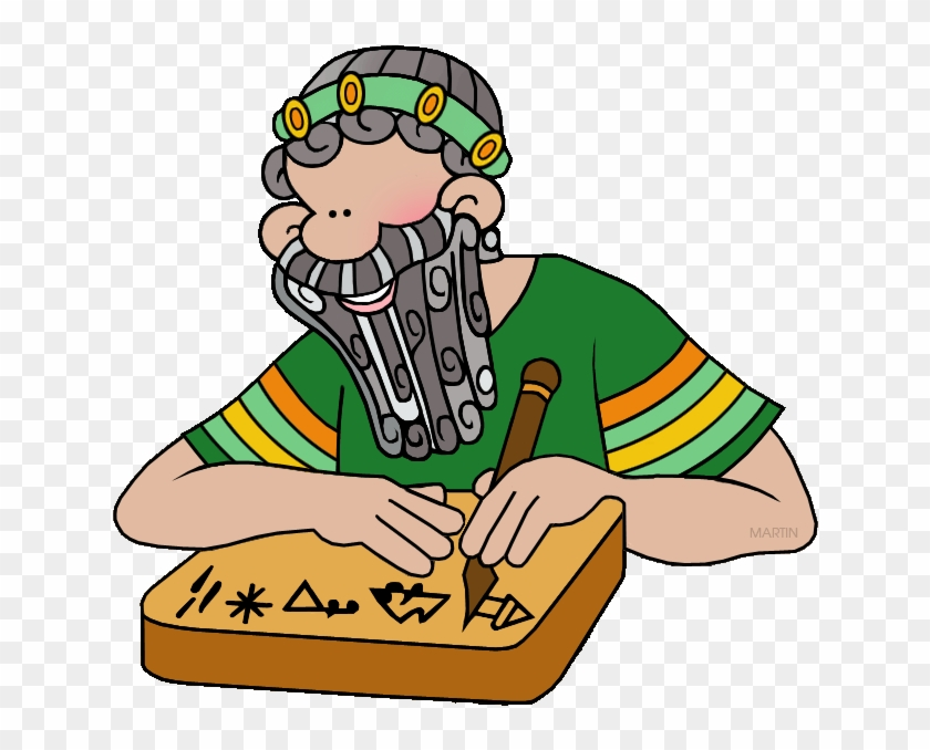 Scribe - Ancient Egyptian Scribes Cartoon #113605