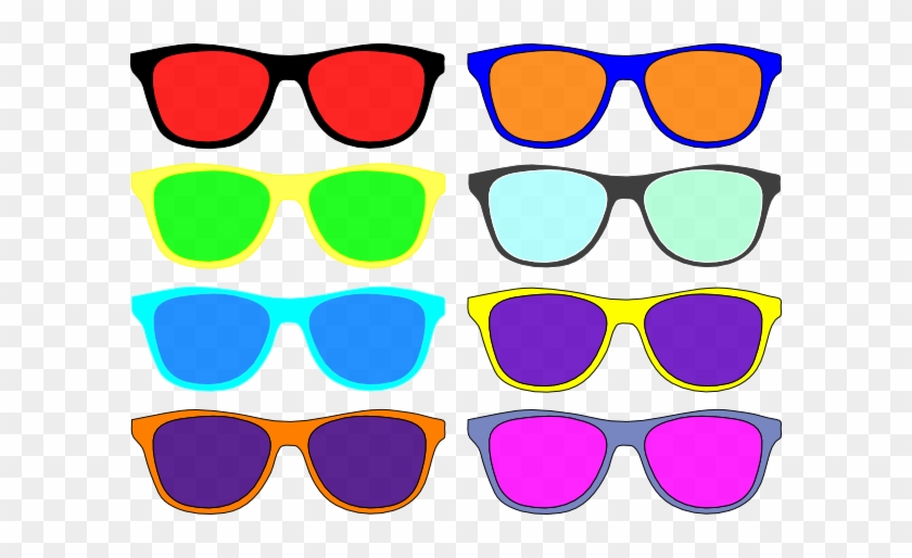 Colorful Sunglasses Clip Art At Clker - Colorful Sunglasses Clipart #113612