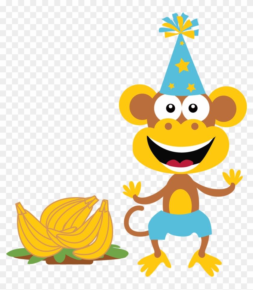 Boy - Monkey - Clip - Art - Party Monkey Clipart #113707