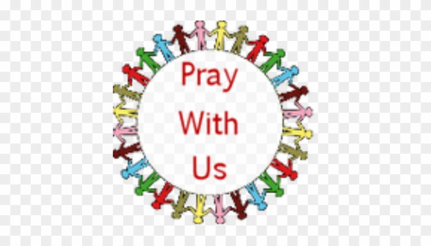 Prayer Service - People Holding Hands Around The World Black #113714