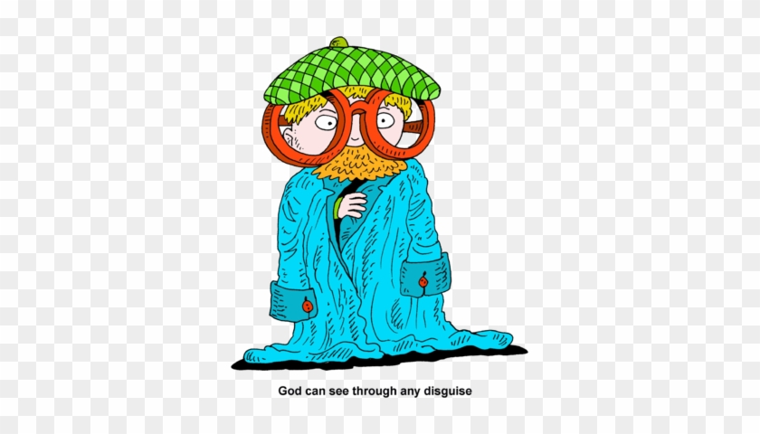 God Sees Through Disguises - Disguise Clipart #113760