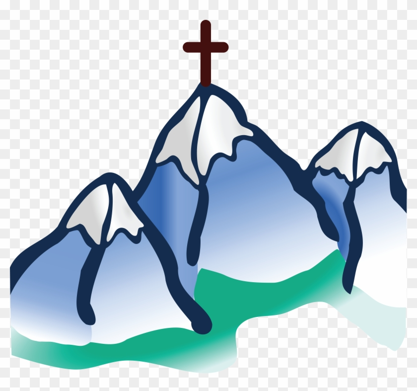 Free Clipart Of A Cross On Mountains - Cross On Mountain Clipart #113827