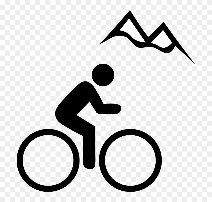 Mountain Clipart Border Clipart Free Clipart Images - Mountainbiking Clipart #113832