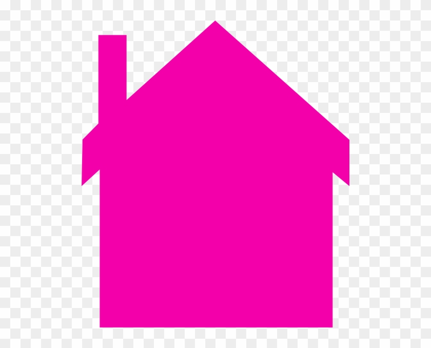 Pink House Silhouette Clip Art - Pink House Clip Art #113934