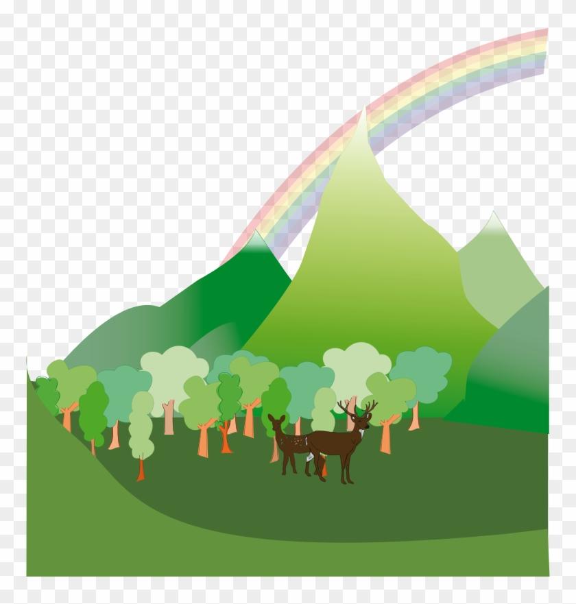 Clipart - Mountain - Green Mountain Clipart #113977