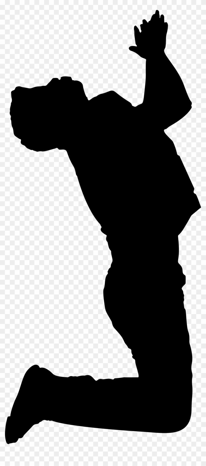 Clipart - Praying Man Silhouette #114004