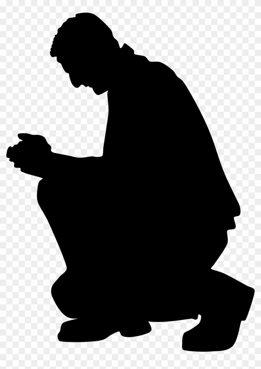 Clipart - Praying Man Silhouette #114009