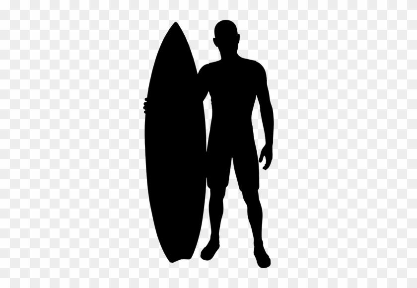 11052 Man Sitting Clip Art Silhouette Public Domain - Surfer Silhouette Png #114032