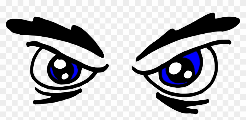 Blue Eyes Clipart Funny Eye - Angry Eyes Clipart #114080
