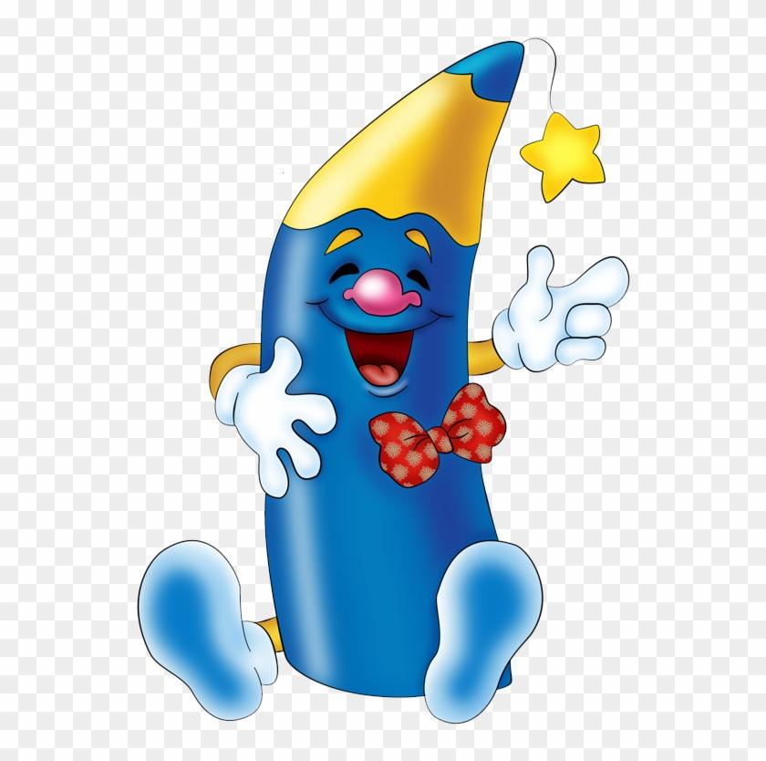 Clip Art Schoolclip - Crayons Character Clipart #114319