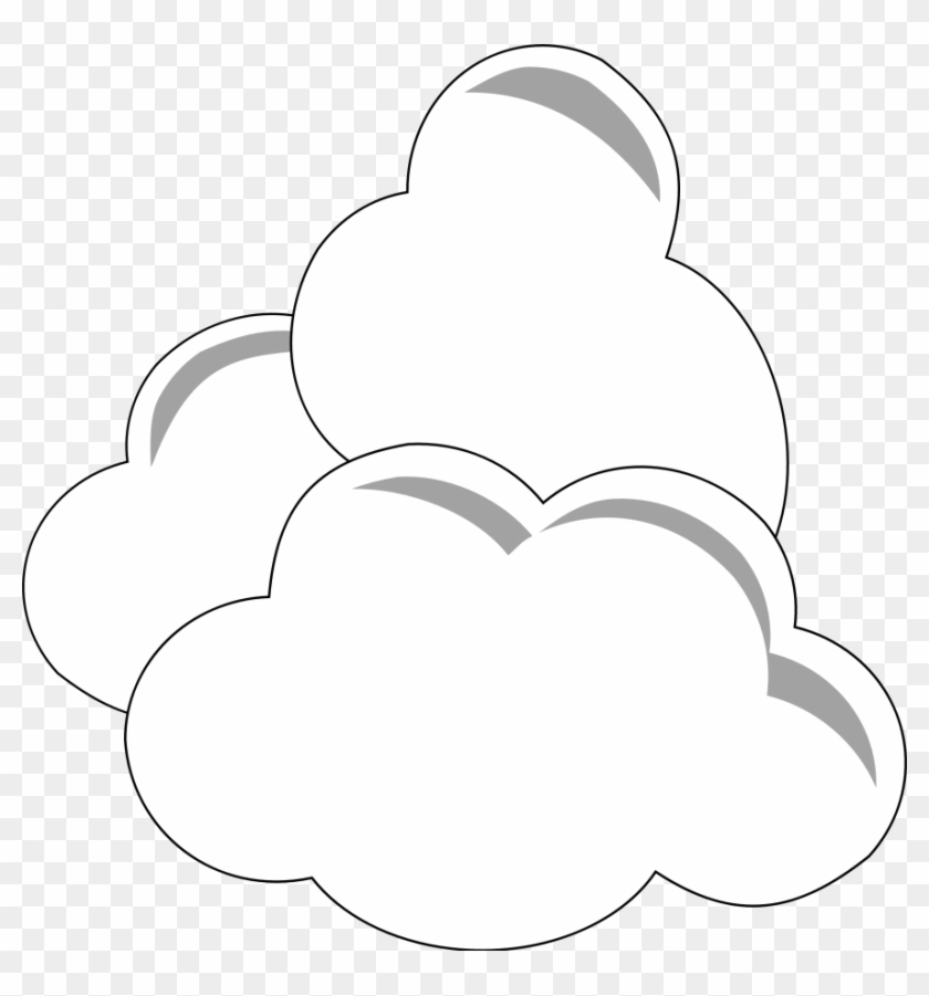 Simple Clouds Png Images - Comulus Clouds Clipart Black And White #114325
