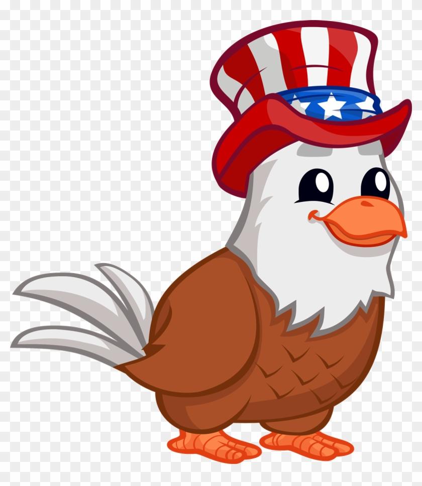 Free To Use & Public - Patriotic Eagle Clip Art #114501
