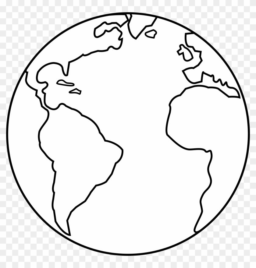 Planet Earth Line Art - Planet Earth Line Art #114631