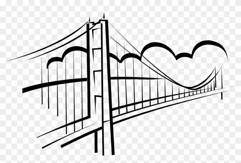 Line Bridge Cliparts - Bridge Clip Art #114818