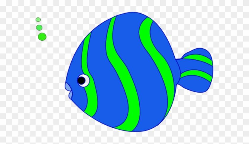 Large Bowl Fish Bubbling Vector Clip Art - Coral Reef Fish #114897
