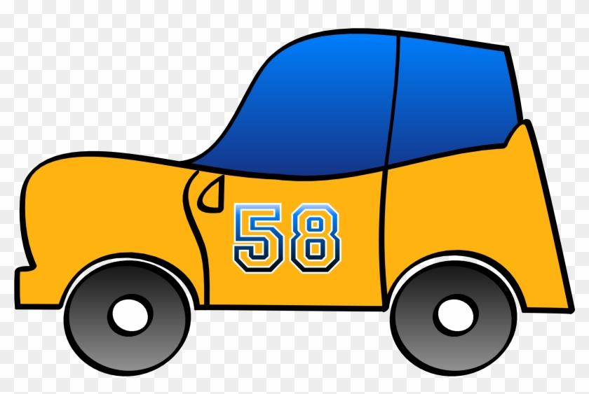 Clipart 2d Yellow Fun Car - Cartoon Car 2d Png #114908