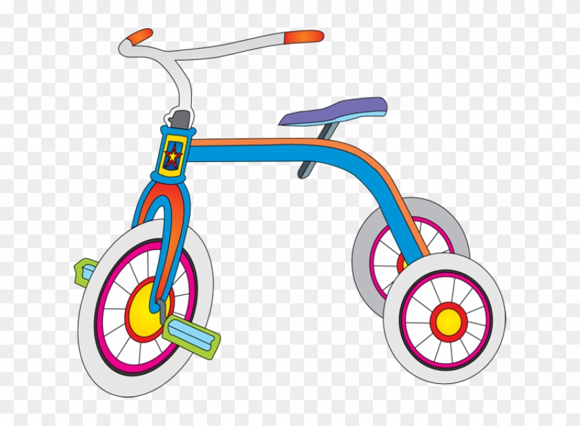 Toys, Toys And More Toys - Clip Art Of A Tricycle #114928