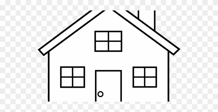 House Clipart Black And White & House Black And White - Simple Drawings Of Houses #114975
