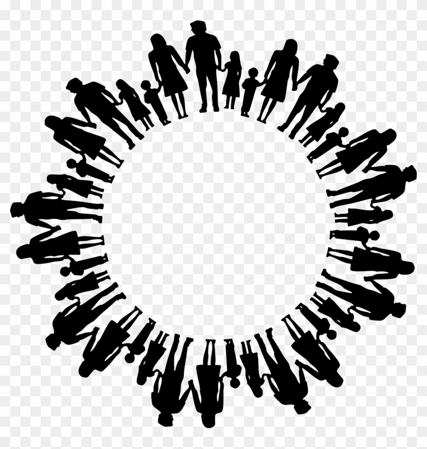 Family Silhouette Radial - Church Icon Png #115038