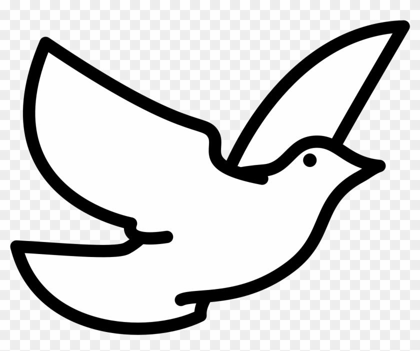 Dove Cliparts - Bird Clipart Black And White #115117