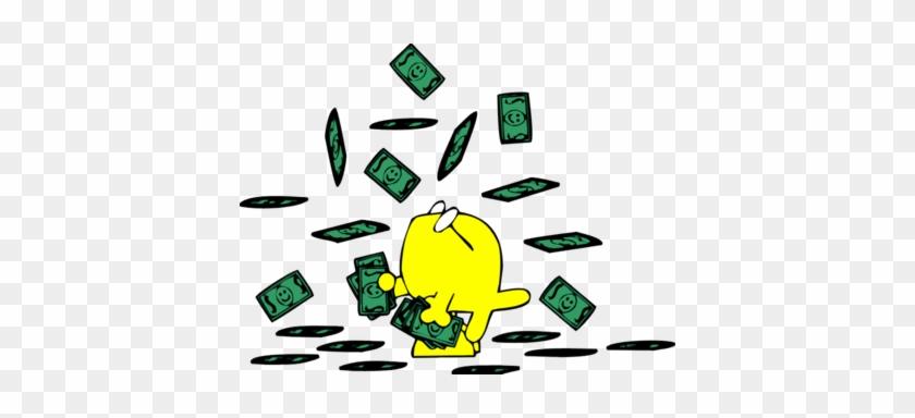 Raining Dollars On Christian Fish - Falling Money Clipart Png #115227
