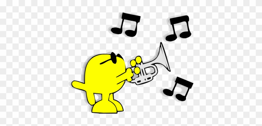 Christian Fish On Trumpet - Playing The Trumpet Clipart #115263