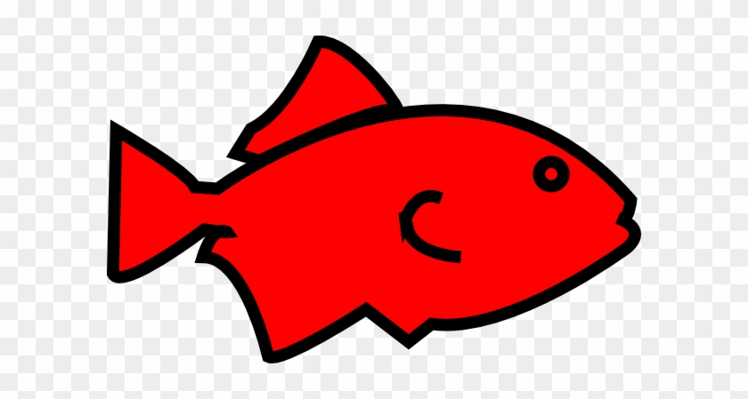 Fish Outline Red Clipart Free Clip Art Images - Clip Art Red Fish #115287