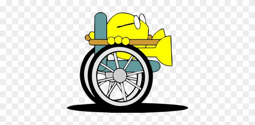 Grandpa Christian Fish - Wheelchair Clipart Old Man #115310