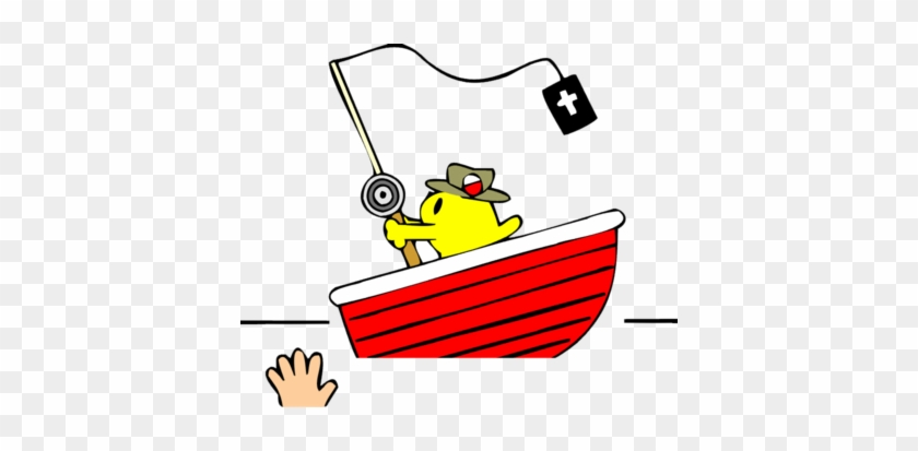 Christian Fish On Boat - Fisher Of Men Clipart #115349