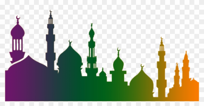 Quran Ramadan Islam Illustration - Eid Mubarak With Masjid #115436