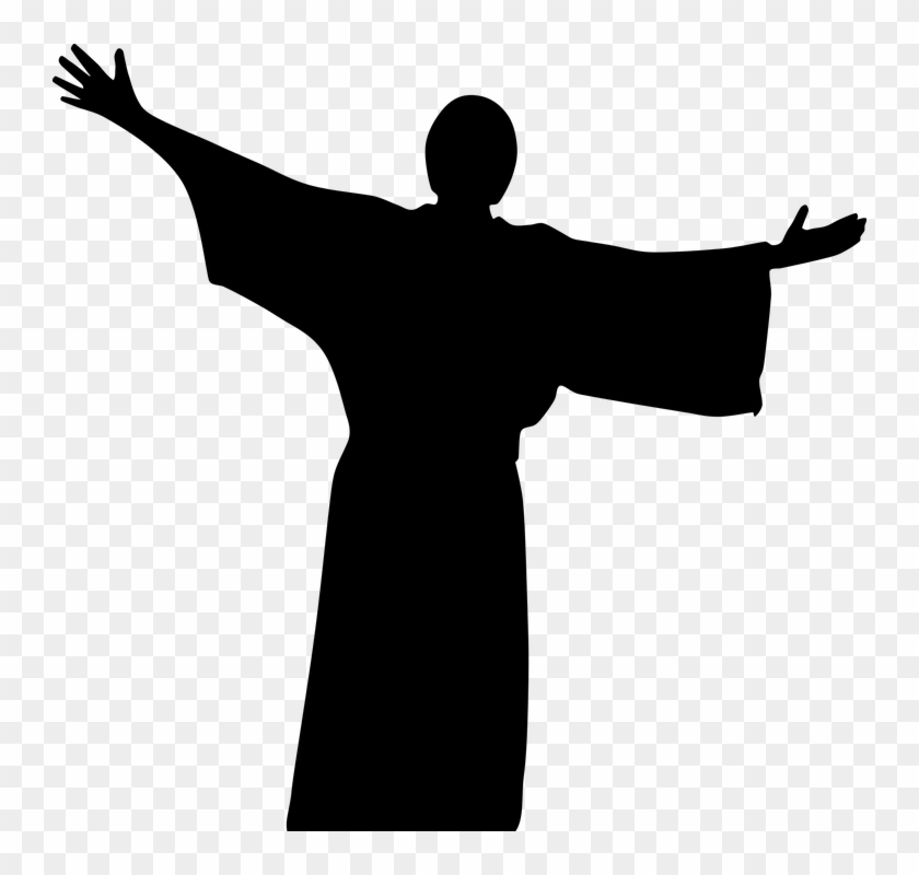 Catholic Christ Christian Church Cross Crucifix - Jesus Silhouette Png #115446