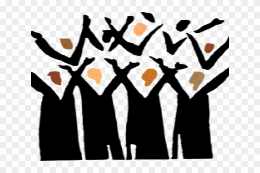 Black Choir Cliparts - Lift Every Voice And Sing - Free ...